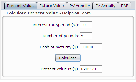 Present Value - Capital Budgeting